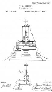 Thomas Edison Illustration Light Bulb