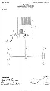 Thomas Edison Illustration Electric Automobile
