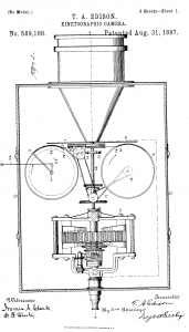 Thomas Edison Illustration Kinetographic Camera