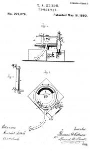 Thomas Edison Illustration Phonograph